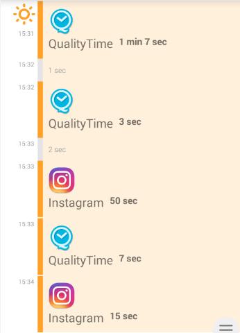 Приложение QualityTime на Android