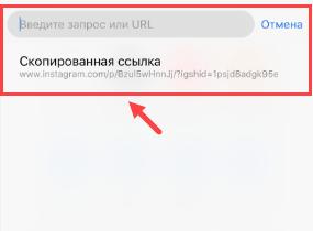 Вставляем ссылку на пост в браузер на iOS