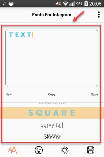 Текст с красивым шрифтом для шапки Инстаграм