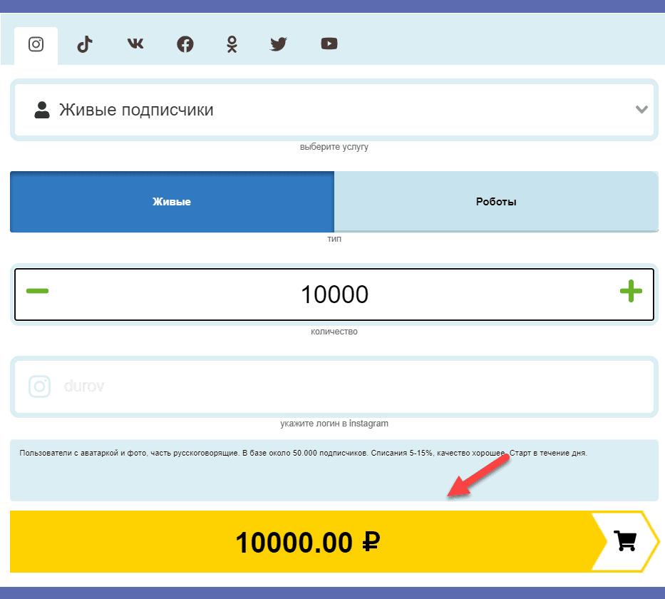 Оплата заказа в Likemania