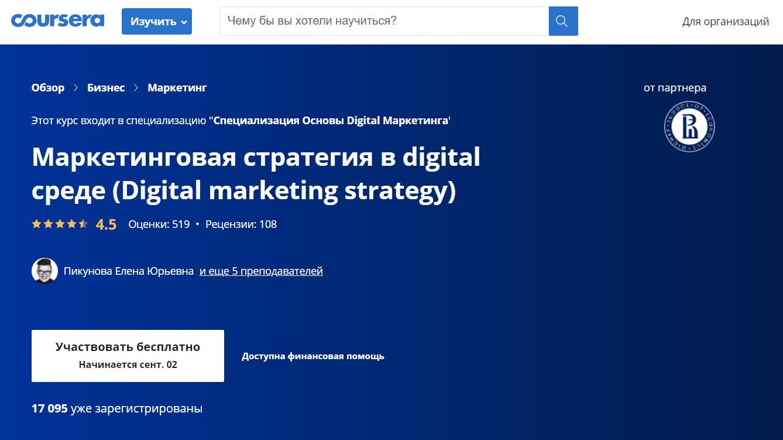 Маркетинговая стратегия в digital-среде