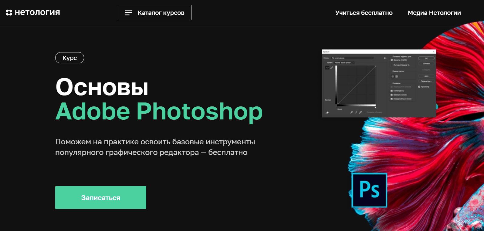 Основы Фотошопа от Нетологии