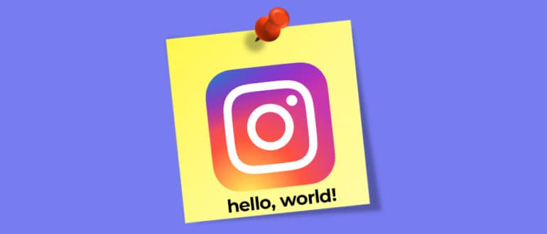 Пост знакомство в Instagram