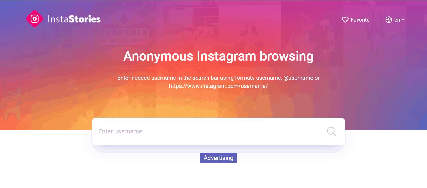 Анонимный просмотр сториз через InstaStories